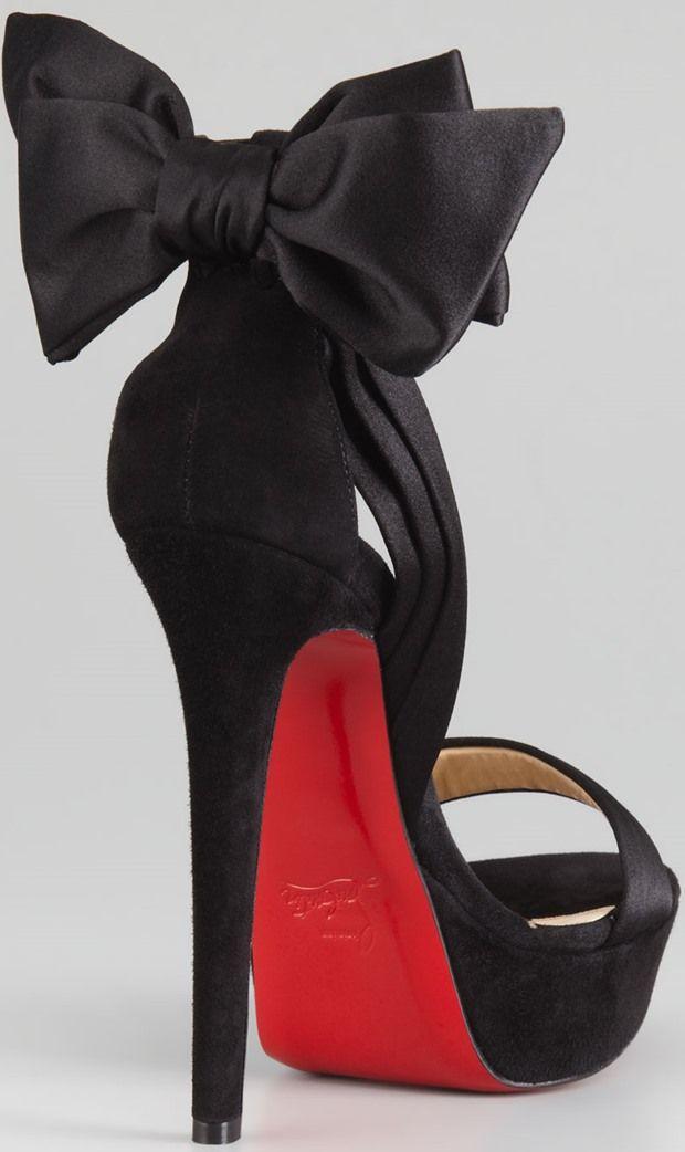 red bottom sandal heels