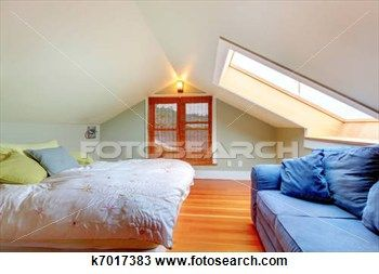 Attic Bedroom With Low Ceiling Stock Image K7017383 Loft Room Attic Renovation Attic Bedroom