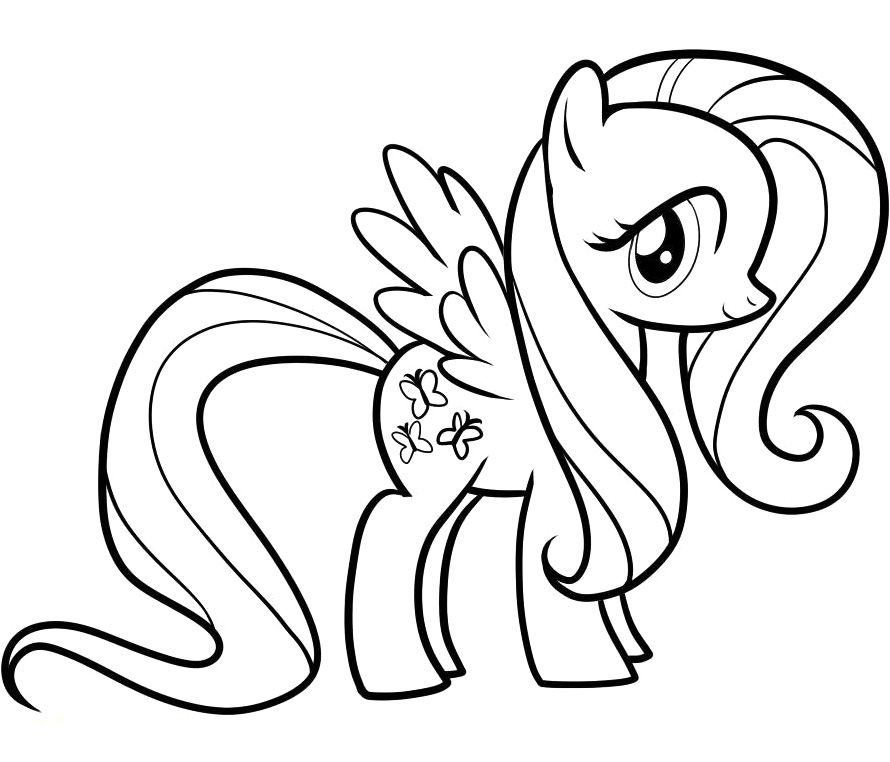 Fluttershy Coloring Pages My Little Pony Coloring Camping