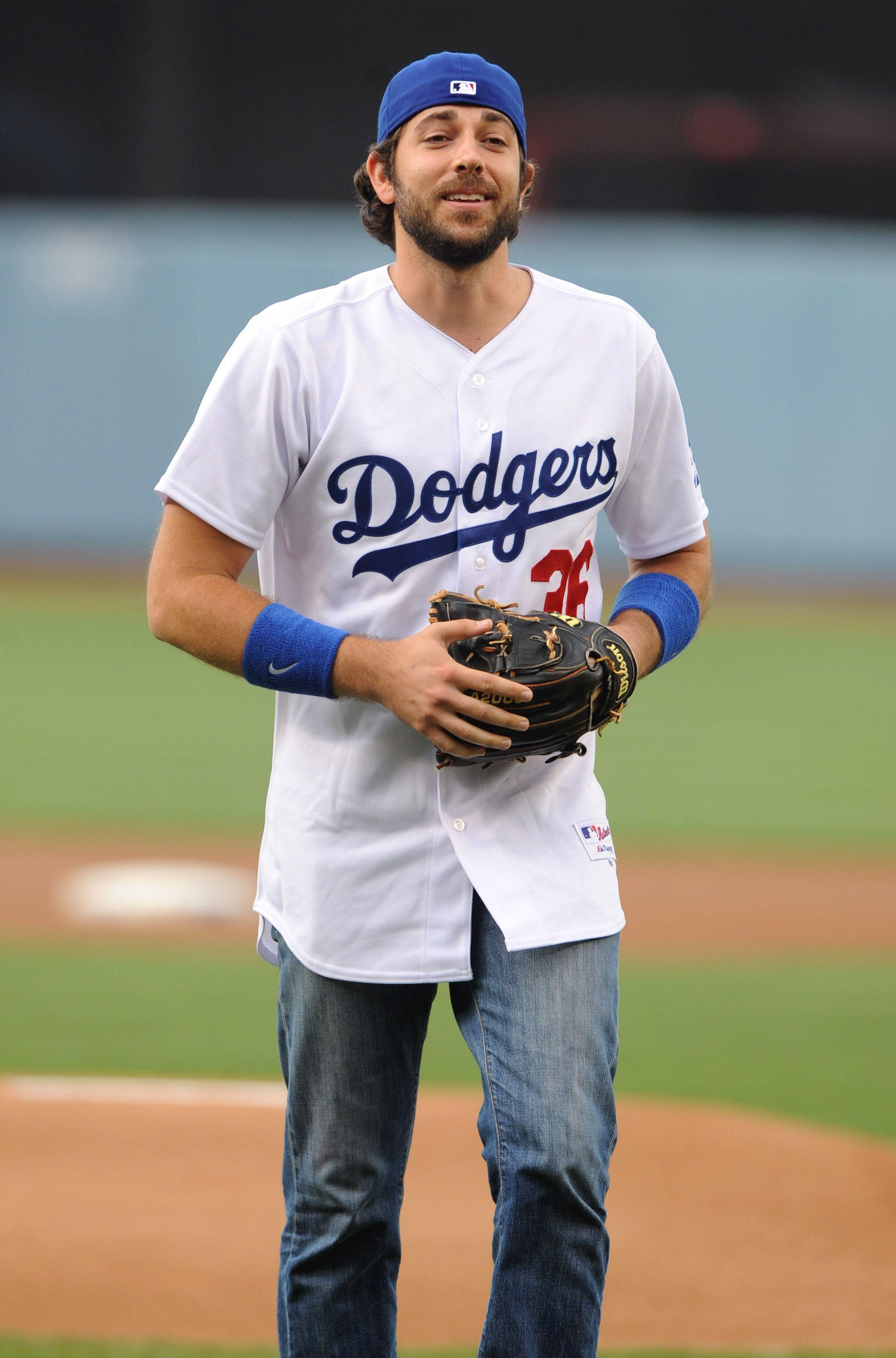 Zachary Levi On A Baseball Field Happiness Zachary Levi Imaginary Boyfriend Levi