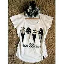 Camiseta Feminina Blusa T-shirt - Chanel  29e552d65ee33