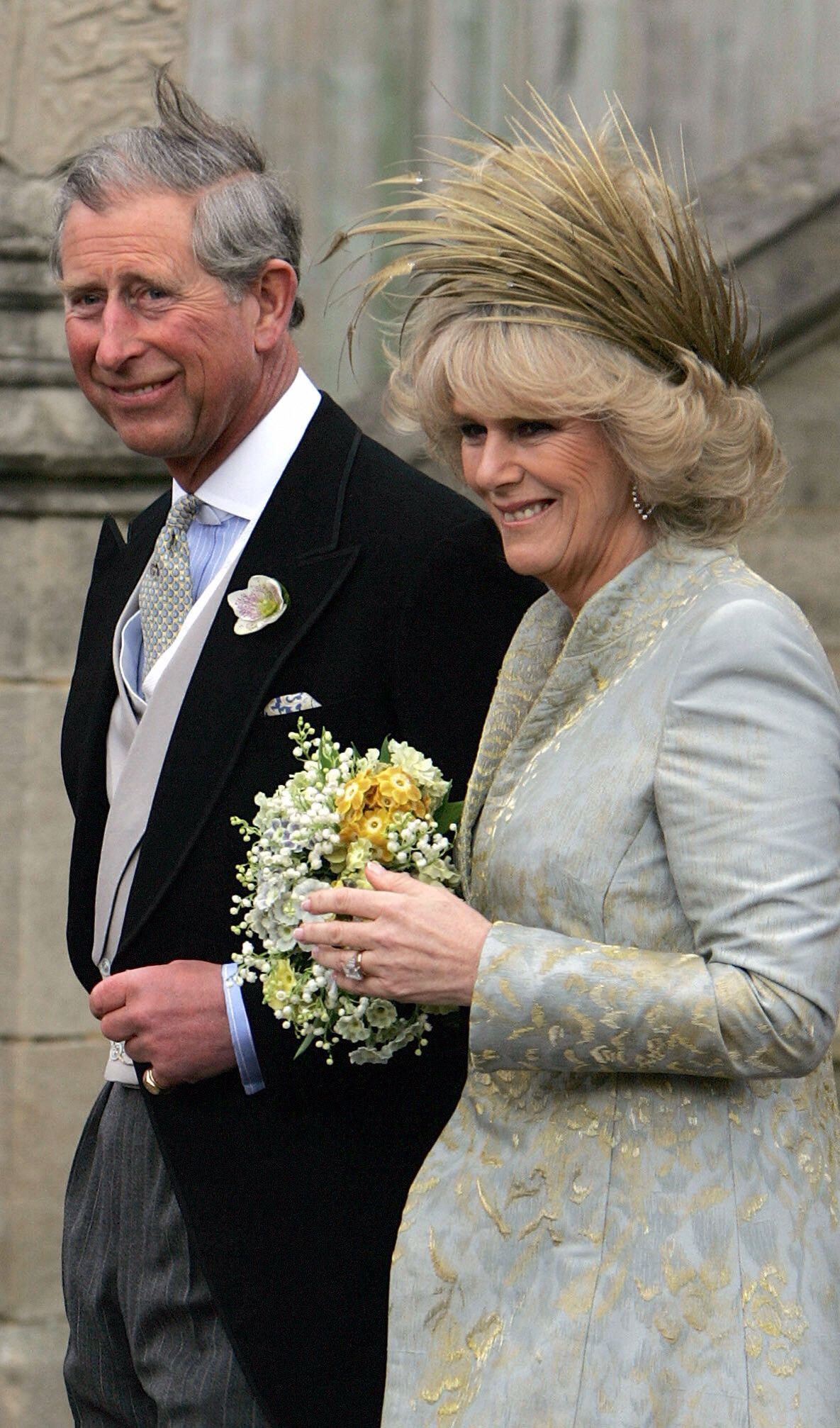 Lovely couple, Charles and Camilla on their wedding day