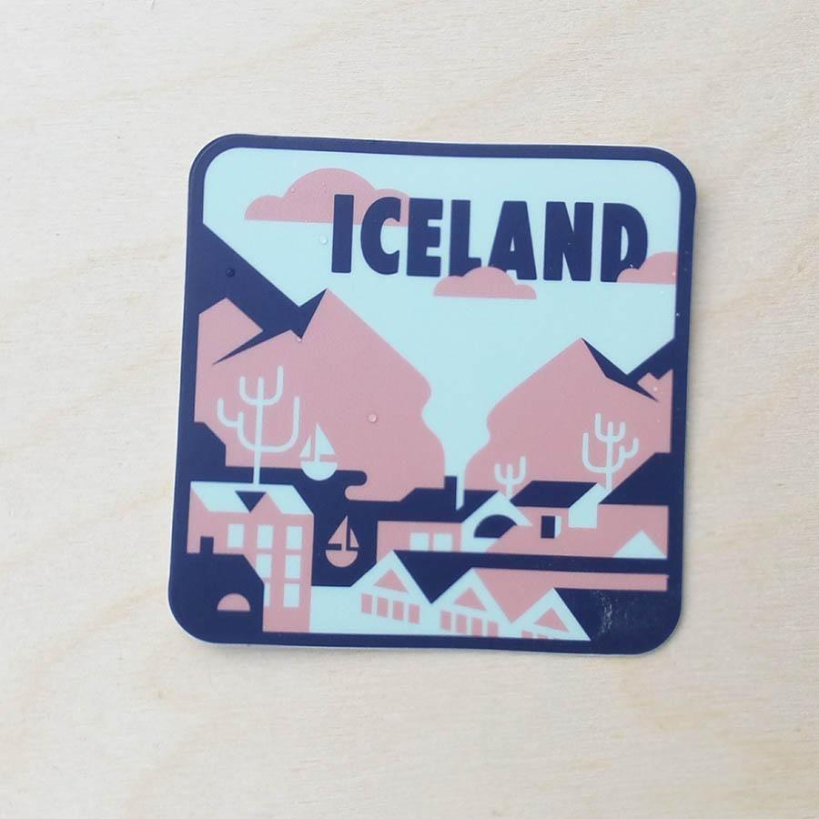 Reykjavik iceland travel sticker