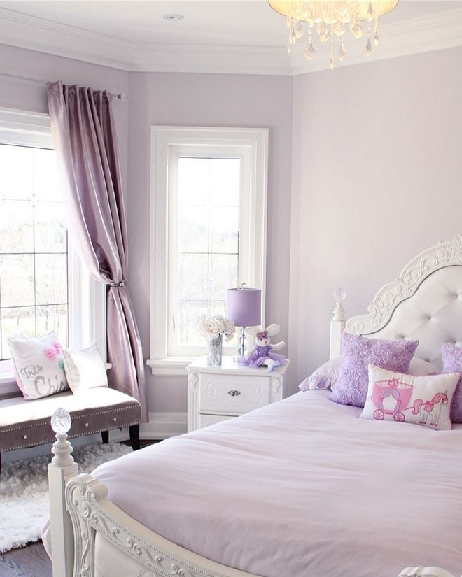 Kids Room Wall Ideas: Lavender Kids Bedroom I Was On The Hunt For The Perfect