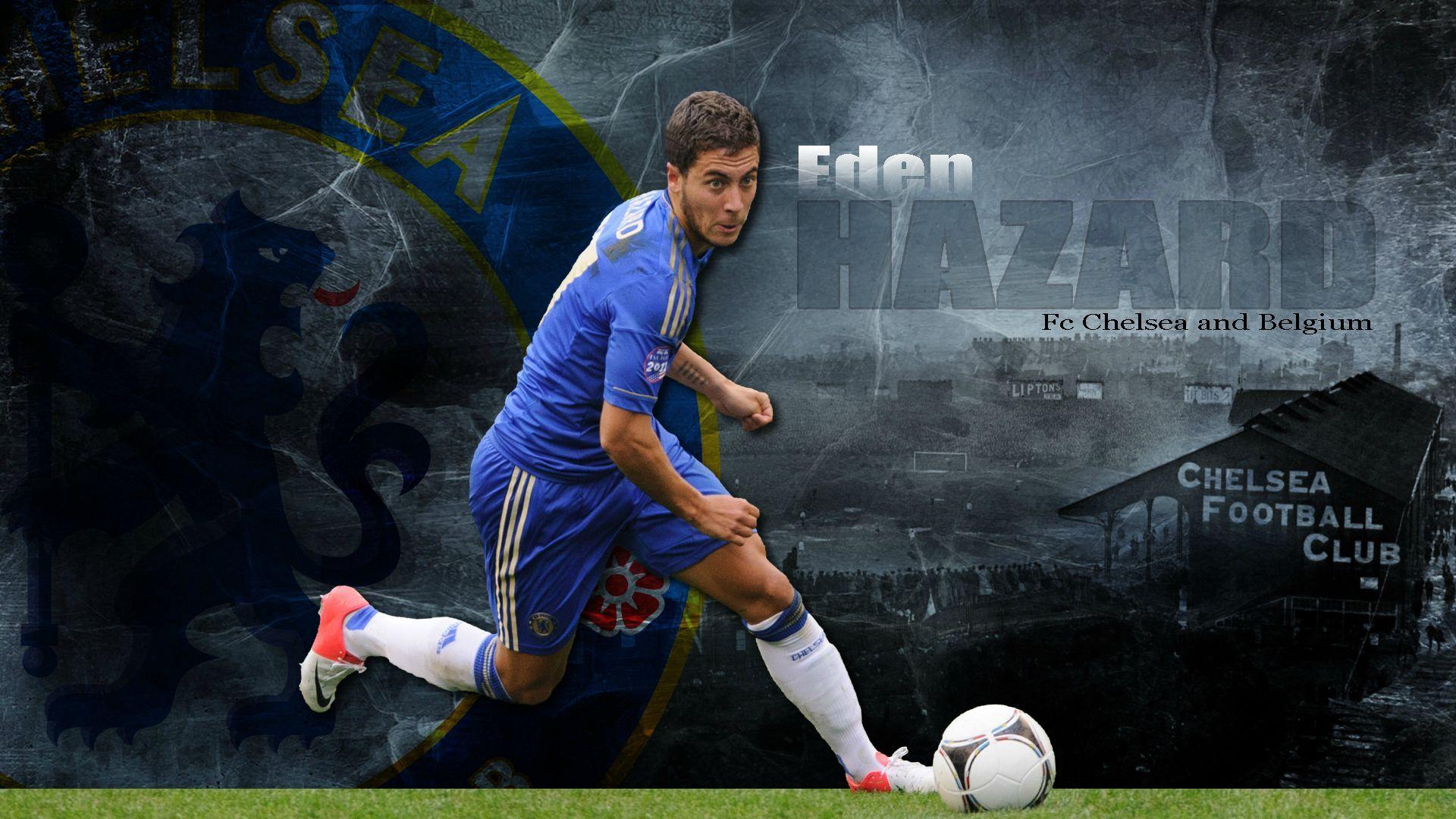 Eden Hazard Chelsea FC and Belgium HD Wallpaper in Desktop - http://www.wallpapersoccer.com/eden-hazard-chelsea-fc-and-belgium-hd-wallpaper-in-desktop.html