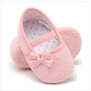 Lovely Light Pink Purple Hot pink Infant Baby First Walker Shoes ...