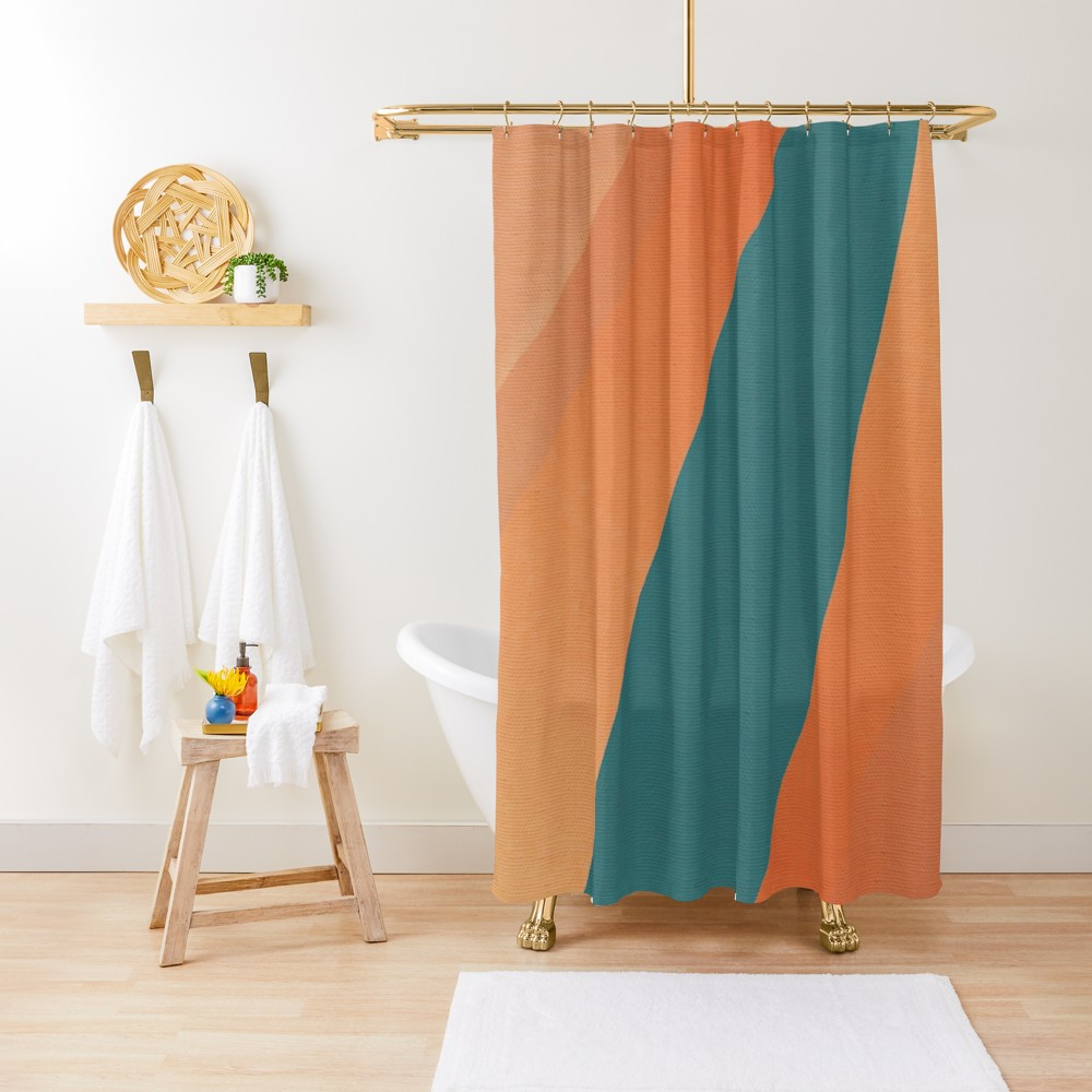 Desert Stream Shower Curtain By Fernandovieira