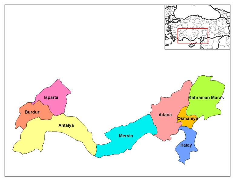 Akdeniz Bolgesi Haritasi Akdeniz Bolgesi Sehir 5 Sinif Haritalar