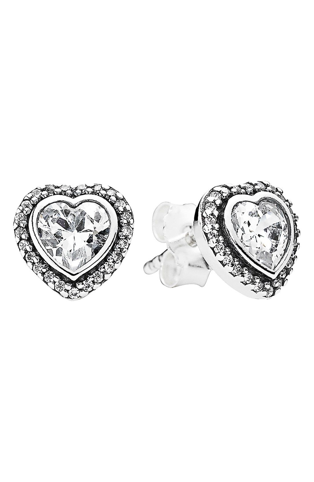 Pandora Sparkling Love Heart Stud Earrings