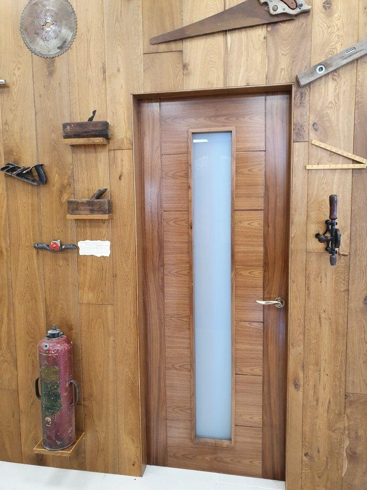 Walnut Opaque Glazed Door In 2020 Walnut Doors Prehung Doors Contemporary Doors