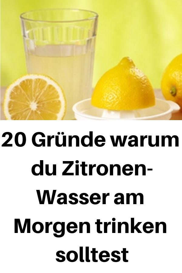 Zitronensaft mit warmem Wasser dient zum Abnehmen