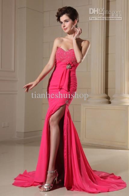 Wholesale Prom Dresses - Buy The Newest! Prom Dresses Sweetheart Chiffon Mermaid/Trumpet Chapel Train Quinceanera Dresses, $142.05 | DHgate