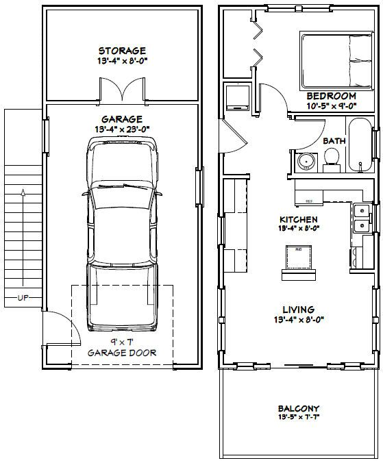 14x32 Floor Plan 567 Sq Ft Tiny House Layout Tiny House Floor Plans Small House Plans