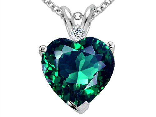 Amazon tommaso design heart shape simulated emerald pendant amazon tommaso design heart shape simulated emerald pendant aloadofball Images