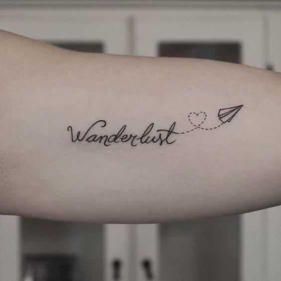 une petite sélection de nos tattoos préférés dans le thème du voyage