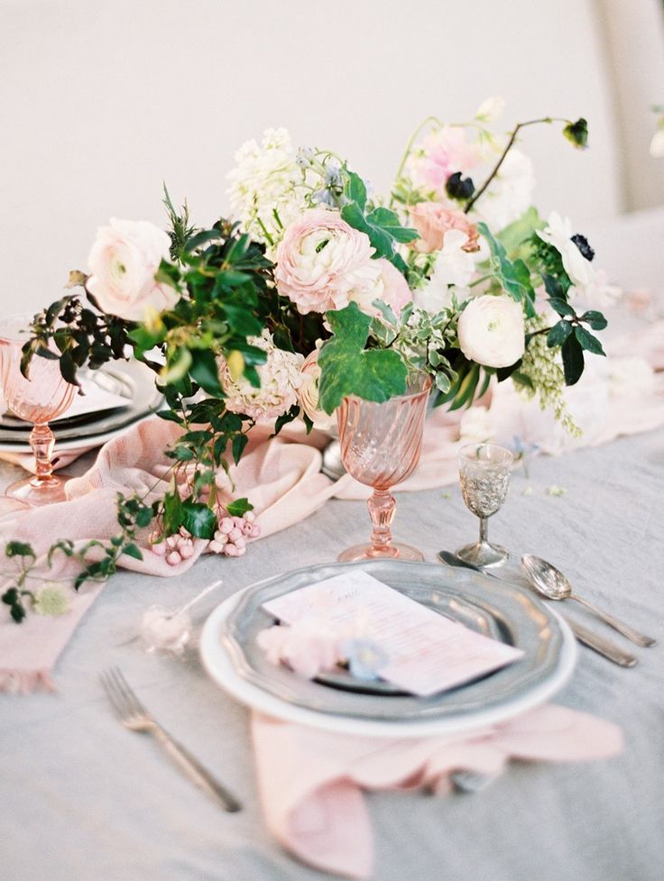 Romantic Intimate Wedding Place Setting \\ Photography - Charla Storey