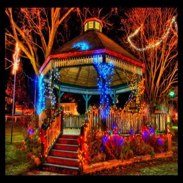 Outdoor Hanging Gazebo Lights Outdoor Christmas Lights