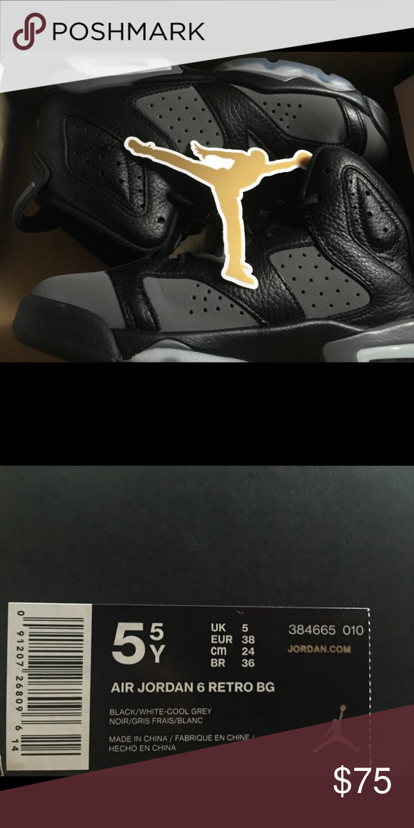 caccf114ee70 Air Jordan 6 retro bg Like new ! Size 5y.. Comes with original box and  Jordan sticker! Air Jordan Shoes Sneakers