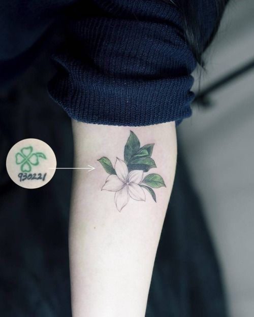 Illustrative style cover up tattoo on the forearm. Tattoo...