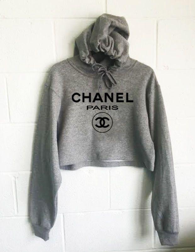 Chanel Paris Cropped Hoodie