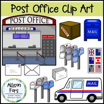 Lovely Post Office Clip Art Set:This Set Includes 14 Images. No Black Lines  Included