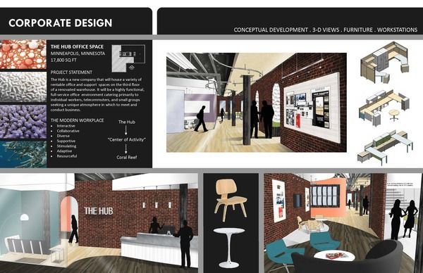 Student portfolio sample pages on behance portfollio for Interior design portfolio examples