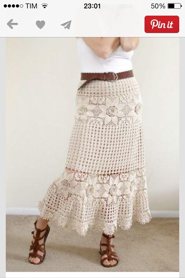 Saia Crochêt skirt | Crochet Skirts | Pinterest | Häkeln