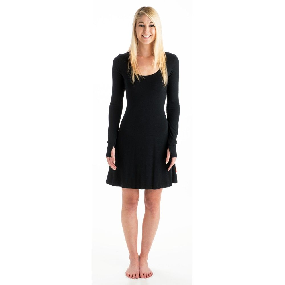 Great lbd with thumbholes beckons strength long sleeve bamboo dress