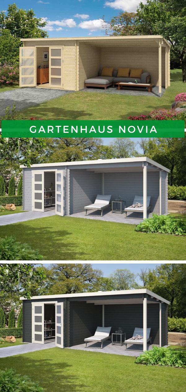 Gartenhaus mit Terrasse: Lasita Maja Gartenhaus Novia