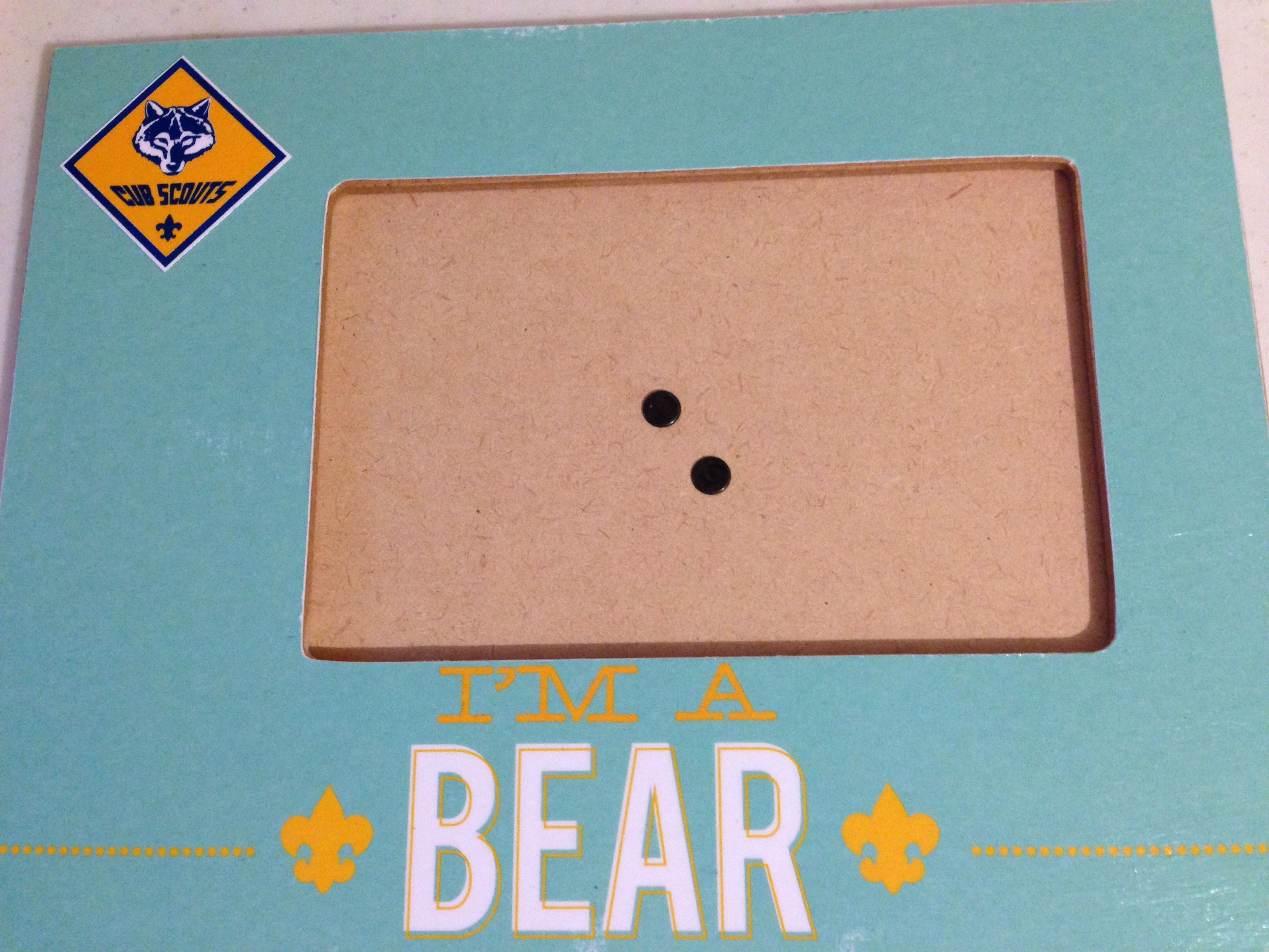 Cub Scout picture frame. MDF, scrapbook paper and Mod Podge ...