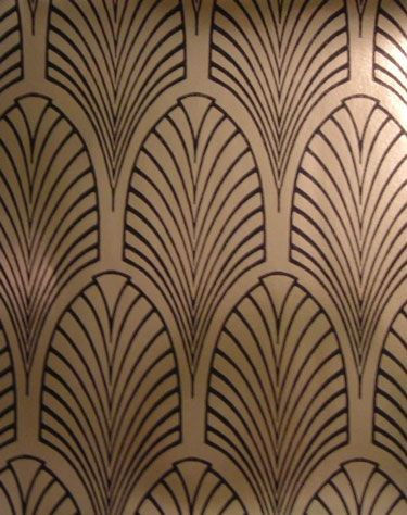 The Art Deco Home - Arts & Crafts Home - wallpaper for the hall ...