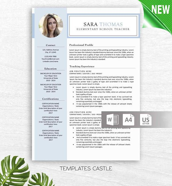 Resume Template Resume CV Professional Resume for Word with Resume
