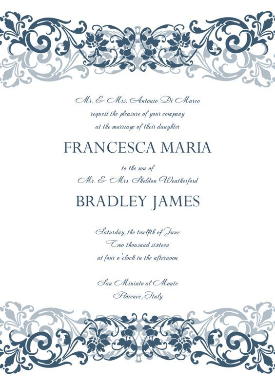Free printable wedding invitation templates free download get this - free printable wedding invitation templates for word