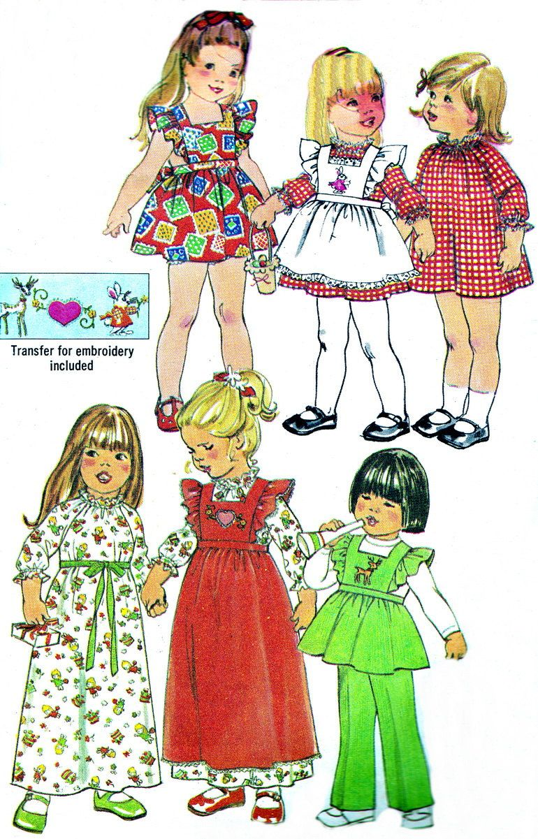 Vintage Sewing Pattern 1970s Simplicity 7197 Toddler Pinafore Dress Pants Tunic Size 1 Breast 20. $7.00, via Etsy.