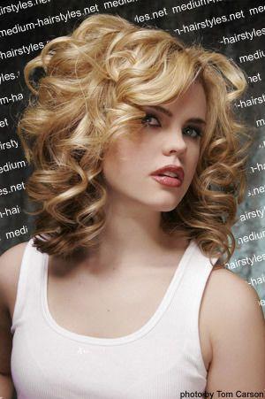 shoulder length curls