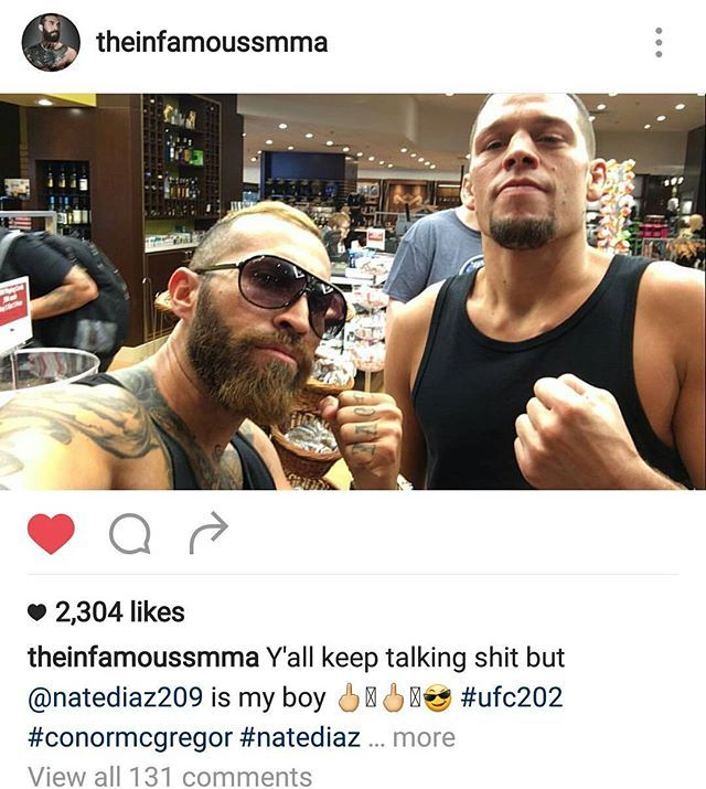 Shoutout to @theinfamoussmma he's fucking hilarious #teamdiaz #ufc #bjj  #natediaz #