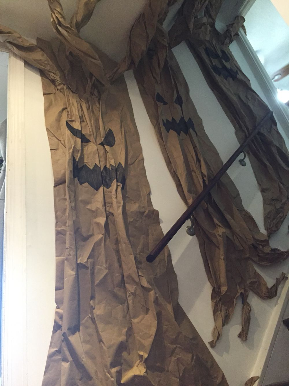 Brown paper spooky trees, wall decor Dawn\u0027s Halloween ideas - Office Halloween Decor