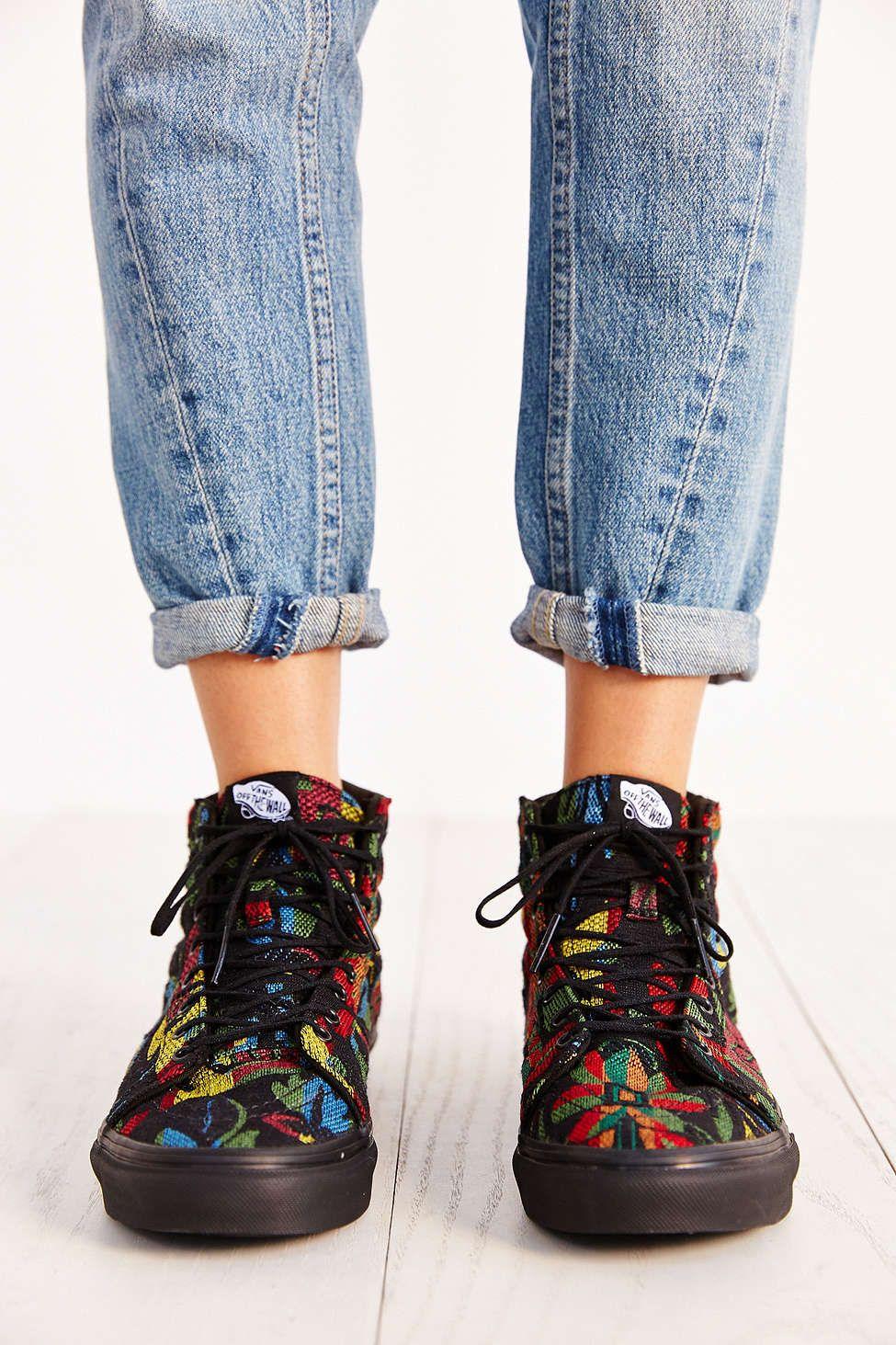 2f2072f506 Vans Sk8-Hi Slim Floral Tapestry Womens Sneaker - Urban Outfitters ...