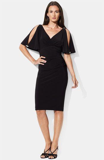 Lauren by Ralph Lauren Embellished Split Sleeve Jersey Dress available at #Nordstrom