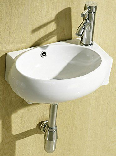 December 2016 Week 1 E Plumb Small Compact Cloakroom Basin Bathroom Sink Round Offset Square Rectangle Corner Right Hand Wall Hun