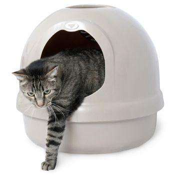 Booda Dome Covered Litter Box In Titanium Best Cat Litter Best Litter Box Litter Box