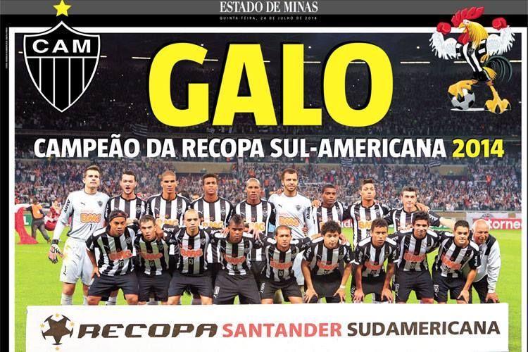 Galo Campeao Da Recopa Santander Sudamericana 2014 Clube Atletico Mineiro Campeao Atletico
