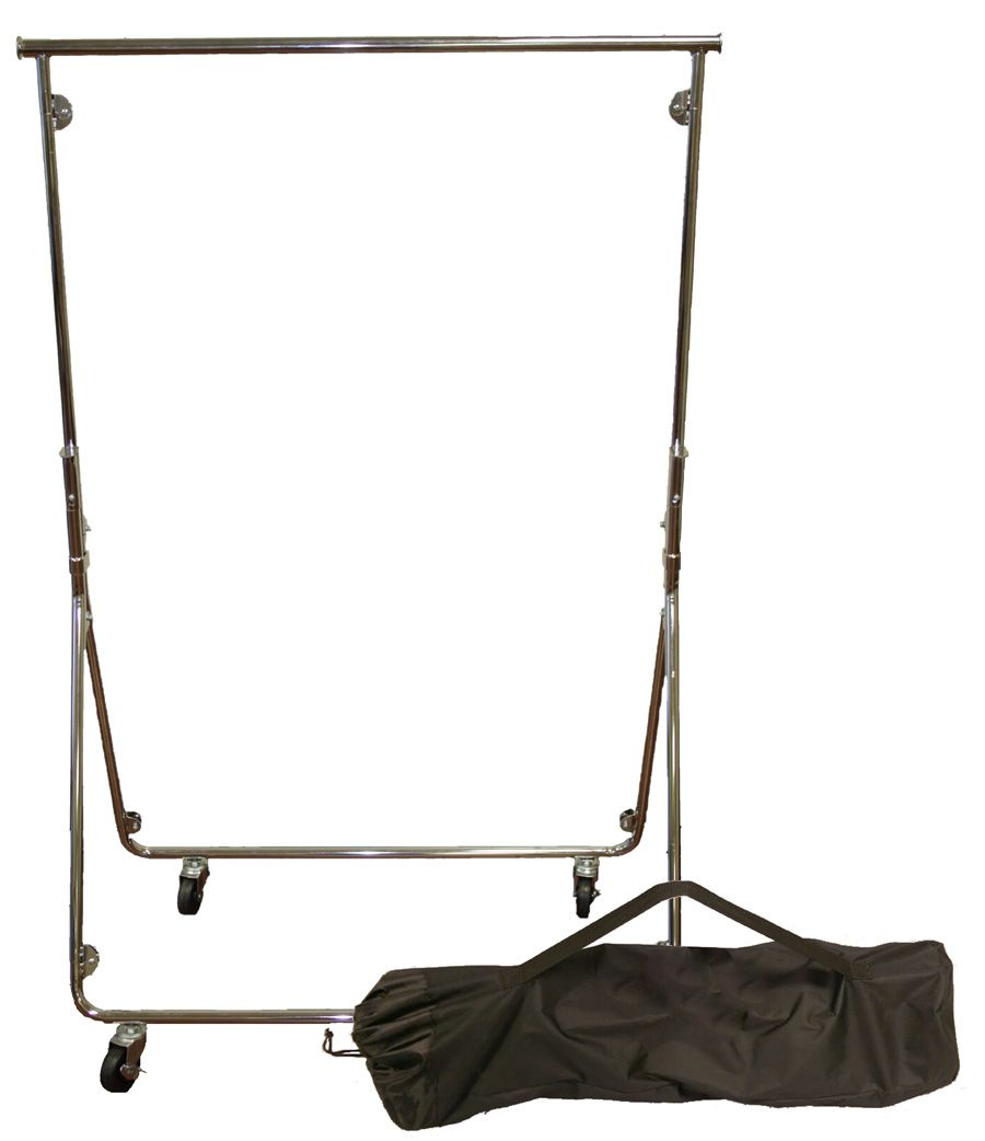Collapsible rolling clothes racks portable racks fold for Fold down coat hooks