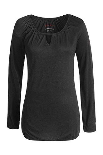 #Esprit Viskoosipitkähihainen musta pusero