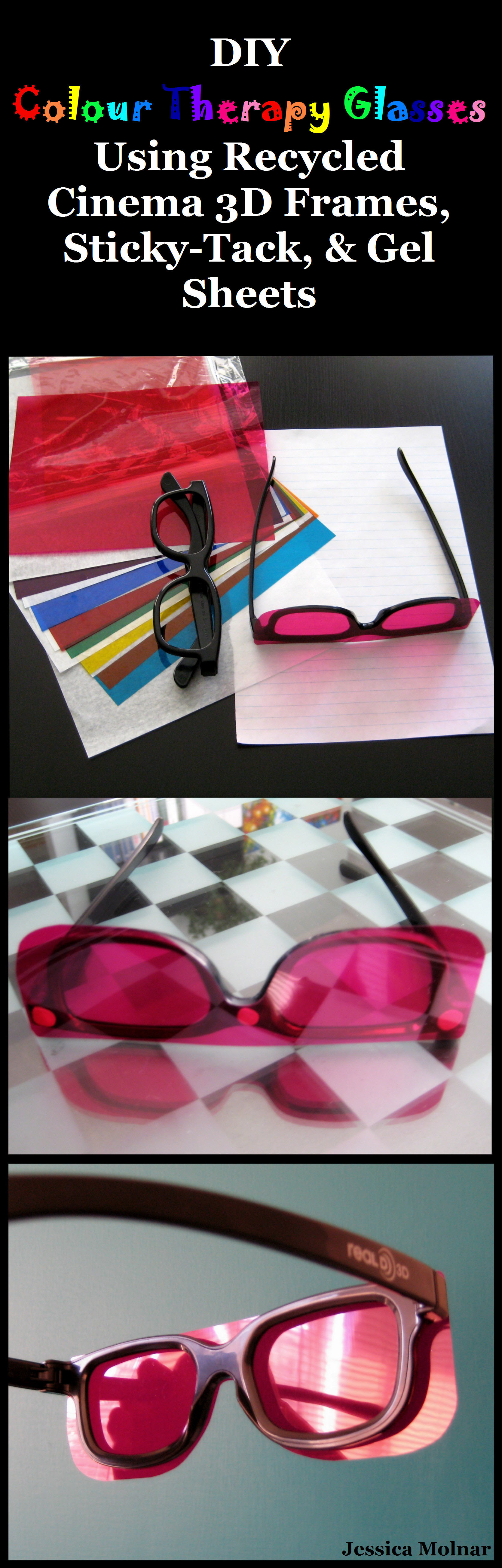 Colour therapy for fibromyalgia - Diy Colour Therapy Glasses I Made These Because I Can T Afford To Spend