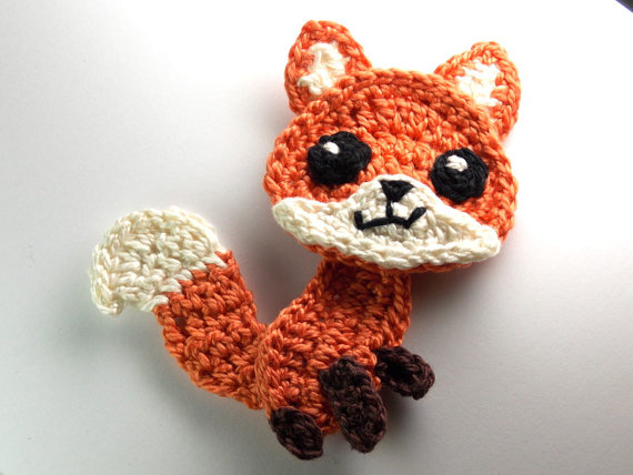 Crochet Applique Fox