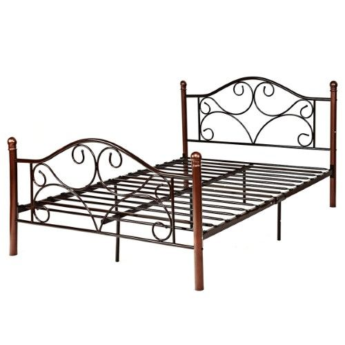 Costway Full Size Steel Bed Frame Platform Stable Metal Slats