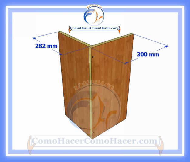 Resultado de imagen para como hacer un esquinero de madera for Medidas para hacer un mueble de cocina
