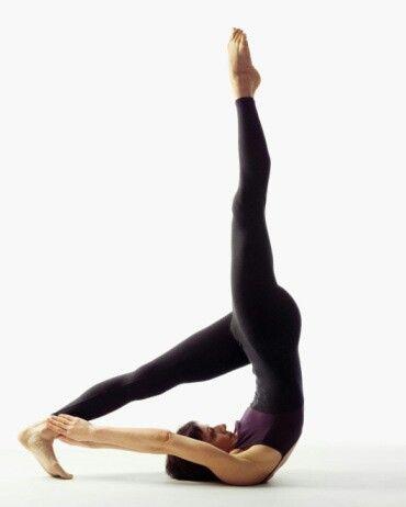 yoga shoulderstand variation  pilates jackknife