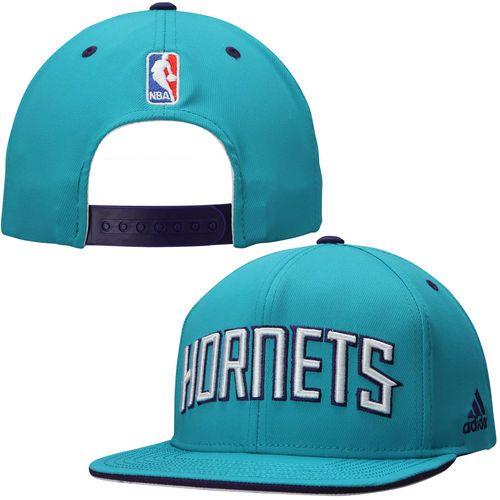 98567f41c3cc8 Mens Charlotte Hornets adidas Teal NBA Team Nation Snapback Hat